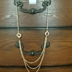 Reserved for @pinpoint Long Gold Necklace Brand new long gold necklace. No damages. In great condition. Perfect to style with any outfit. No trades. Charming Charlie Jewelry Necklaces
