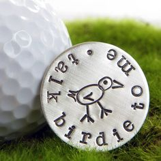 Talk Birdie To Me...New Golf Ball Marker design now available in my Etsy Shop. $29