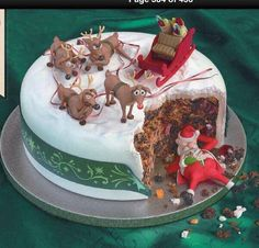 Ha ha ha - a great way to break into the Christmas cake before Christmas Day :-( (Best Christmas Food) Christmas Cake Decorations, Christmas Sweets, Holiday Cakes, Christmas Cooking, Christmas Humor, Christmas Cakes, Merry Christmas, Christmas Time, Naughty Christmas