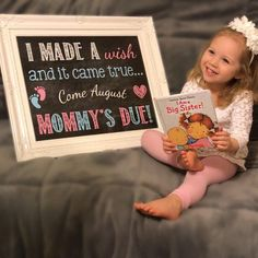 Are you looking for an adorable way to announce your pregnancy? This printable photo prop will allow you and your kids to let everyone know that baby is on the way, and it comes with the convenience of choosing whatever size or color meets your needs and printing it yourself,