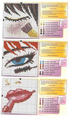 0 point de croix comment se maquiller - cross stitch how to make up