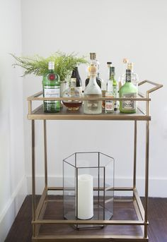 Bar Cart | Camille Styles Studio | Office Space, photo by Jessica Pages