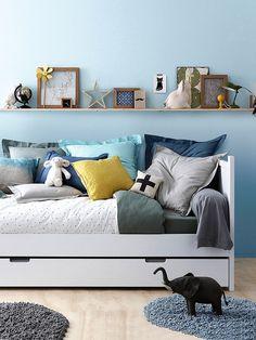 #Novedades y #tendencias deco. #Dormitorio #juvenil en tonos azules.