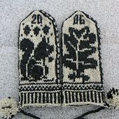 Squirrel and Oak Mittens pattern by Adrian Bizilia