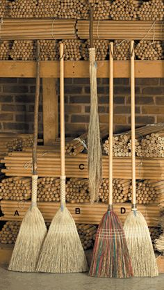 Brooms by Berea College Crafts.