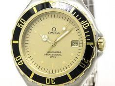 Polished #OMEGA Seamaster Professional 18K Gold Steel Watch 396.1042 (BF099819): Authenticity guaranteed, free shipping worldwide & 14 days return policy. Shop more #preloved brand items at #eLADY: http://global.elady.com