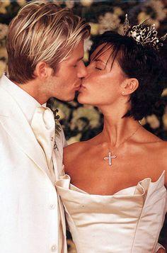 David and Victoria Beckham When: July 04, 1999 Where: Luttrellstown Castle in Dublin, Ireland