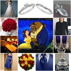 beauty and the beast wedding theme ideas - Google Search  This is so me. Beauty and the Beast has always been and will always be my favorite!