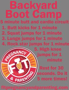 Backyard Boot Camp: Butt and Cardio Circuit. Reduce and prevent cellulite by developing lean, calorie burning muscle!