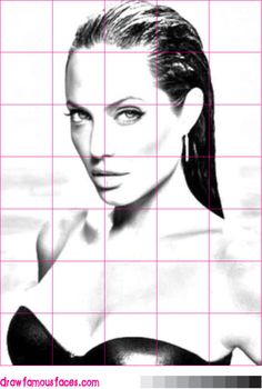 Grid drawing portraits, many celebrities to choose from, already sized to a 5x7 grid.