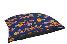 Thumbprintz Fleece Top Large Breed Pet Bed Hypnotic Circles Multi Colored * Read more reviews of the product by visiting the link on the image.