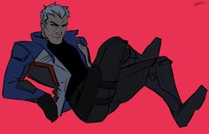 Ooh u in that sexy pose Jack 😂 Jack Morrison, Overwatch Drawings, Overwatch Comic, Sexy Poses, My Dad, Daddy, Character Design, Sour Cherry, Hero