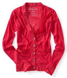 Long Sleeve Burnout Cardigan. I want something like this soooooo badly.
