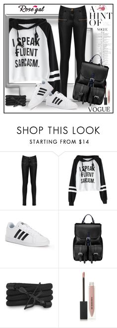 """Letter Graphic Cropped Hoodie"" by lila2510 ❤ liked on Polyvore featuring WearAll, adidas, Aspinal of London, Monza and Burberry"