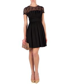 LOCKLY - Lace pleated dress