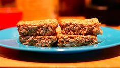 Oatmeal Bars - I swapped applesauce for the oil