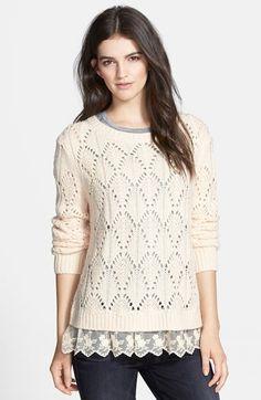 ruffle hem sweater / hinge