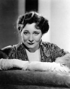 Margaret Dumont, best-known as Groucho's foil in many of the Marx Brothers's comedies.
