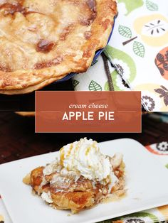 Cream Cheese Apple Pie via @sheenatatum