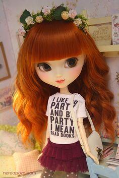 Ooak custom pullip doll GALATEA BLANC :)