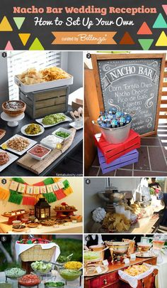 How to Set Up a Chic Nacho Bar for Your Wedding. Instructional Ideas for Assembling a Nacho Bar for a Wedding, Snack Station, or Casual Reception.