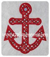 Anchor 2 Applique Design