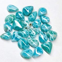 (1) Larimar Stone | Island Jewelry – Atelys Crystal Healing Stones, Stones And Crystals, Turquesa E Coral, Silicate Minerals, Stone Island, All That Glitters, Beach Jewelry, Wiccan, Some Fun