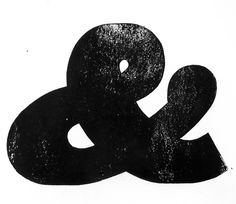 Antique ampersand block print from cool website on letterpress.