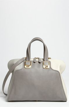 Fendi 'Chameleon Colorblock' Calfskin Leather Top Zip Tote