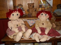 Two more dolls I have made and also sell these.