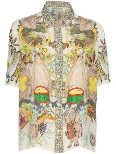 Swash Hawaiian print blouse