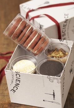 Box and tube gift package - a different way to package a sampler pack?