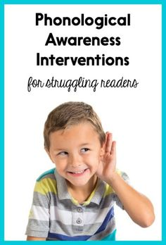 Superstars Which Are Helping Individuals Overseas Many Struggling Readers Also Have Poor Phonological Awareness. Peruse This Post For Intervention Ideas And Get All Of The Intervention Materials For Free Teaching Phonics, Phonics Activities, Teaching Resources, Dyslexia Activities, Jolly Phonics, Preschool Games, Reading Activities, Educational Activities, Kindergarten Reading