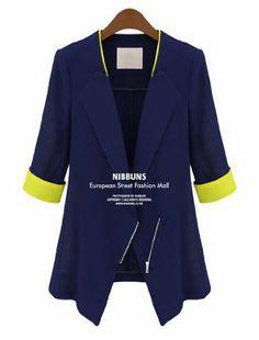 Amazon.co.jp: M's style バイカラー おしゃれ テーラード ジャケット 七分袖 レディース ファッション コーディネート ネイビー ホワイトスプリング ジャケット: 服&ファッション小物