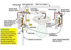 3way switch diagram power into light For the Home Pinterest
