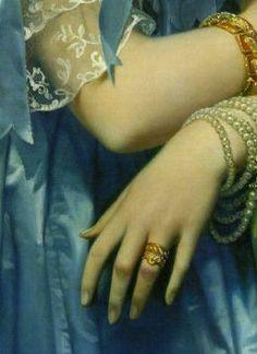 Detail of Jean Auguste Dominique Ingres's Princess Albert de Broglie