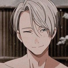 Victor Nikiforov from Yuri! On Ice Art Anime, Anime Kunst, Manga Anime, Cute Anime Pics, Cute Anime Boy, Tamako Love Story, Handsome Anime Guys, ユーリ!!! On Ice, Anime Profile