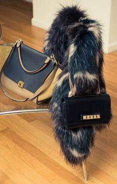Fur and fabulous purses...