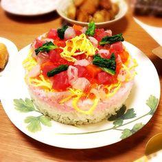 ひな祭り♡ひし餅風ちらし寿司ケーキ by サッチョ [クックパッド] 簡単おいしいみんなのレシピが231万品