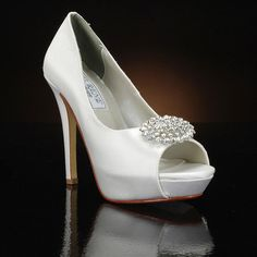 LIZ RENE DORIS-787 Wedding Shoes and DORIS-787 Dyeable Bridal Shoes WHITE, IVORY