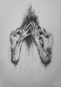 """"""" These are the last two drawings of the four part series I completed for uni """" Sad Drawings, Dark Art Drawings, Drawing Sketches, Arte Horror, Horror Art, Sad Art, Poster Prints, Art Prints, Art Posters"""