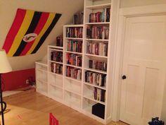 slanted ceiling bookshelf - Google Search