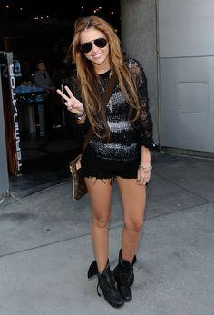 Miley in biker boots