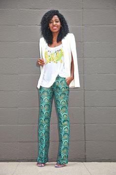 Cape Blazer x Brocade Pants