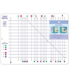 This ruler is  designed to cut the difficult 1/8'' increments in quilting. Rotary cut multiple strips quickly and accurately in all increments of 3/8'' and 7/8''. These eighth inch increments are used for popular quilt blocks such as half-square triangles and flying geese blocks.