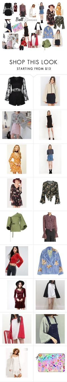 """""""Belle Sleeves: Modern vs. Retro"""" by emilyeslabbert ❤ liked on Polyvore featuring FleaMadonna, Forever 21, Rosie Assoulin, Alexis, Pixie + Diamond, Saks Potts, Casetify, modern, contest and bellsleeves"""