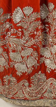 Court dress (image 4 - skirt detail) | probably German | 1828 | silk, metal | Metropolitan Museum of Art | Accession Number: 1983.4