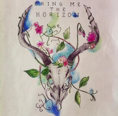 Bring Me The Horizon - Wall Decoration - Handmade Drawing by Martianz30 on Etsy