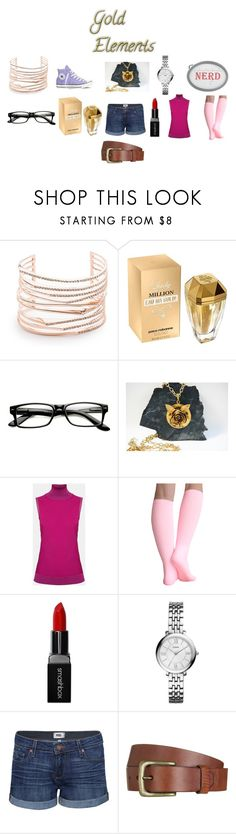 """Geek Chic (version 10)"" by chrisone on Polyvore featuring Alexis Bittar, Paco Rabanne, ZeroUV, CORO, Theory, Converse, Smashbox, FOSSIL, Paige Denim and Will Leather Goods"