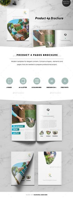 Product 4p Brochure — InDesign INDD #type a4 #hand written • Available here ➝ https://graphicriver.net/item/product-4p-brochure/20979455?ref=pxcr